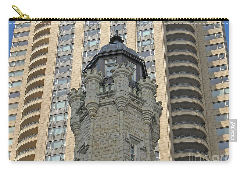 Chicago Contrast By Ann Horn Carry-all Pouch featuring the photograph Chicago Contrast by Ann Horn