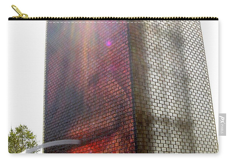 Chicago Carry-all Pouch featuring the photograph Chicago Crown Fountain 4 by Jean Macaluso