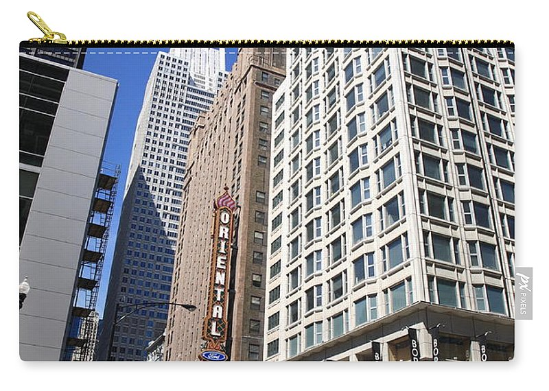 America Carry-all Pouch featuring the photograph Chicago Downtown by Frank Romeo