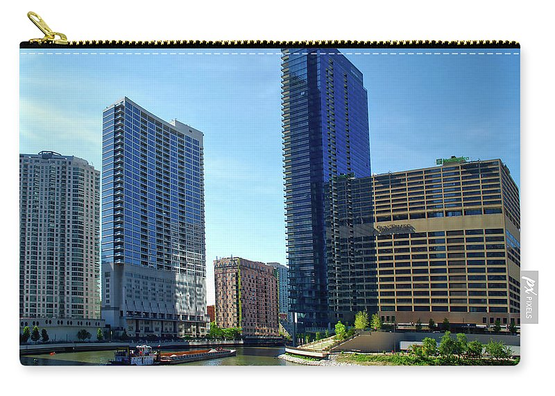 Chicago Carry-all Pouch featuring the photograph Chicago Heading Up The North River Branch by Thomas Woolworth