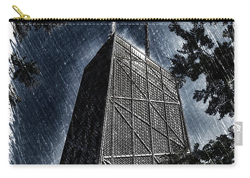 Chicago Carry-all Pouch featuring the photograph Chicago John Hancock In June Pa 01 by Thomas Woolworth
