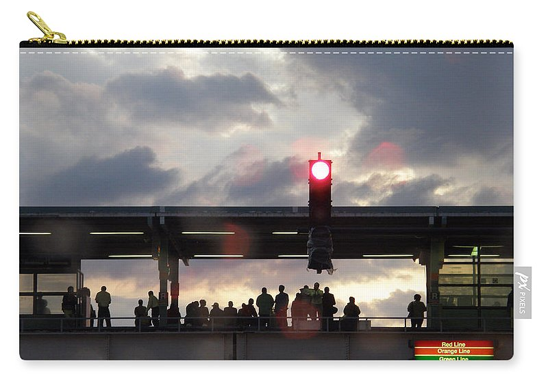 L Train Carry-all Pouch featuring the photograph Chicago L Train by Albert Stewart