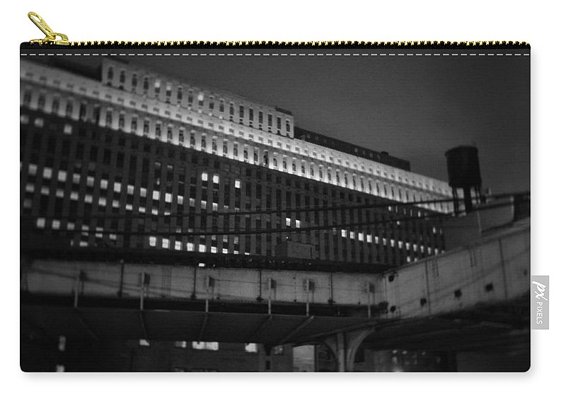 Chicago Carry-all Pouch featuring the photograph Chicago Merchandise Mart by Kyle Hanson