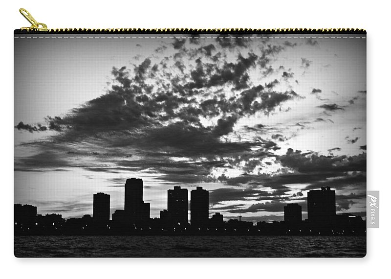 Chicago Carry-all Pouch featuring the photograph Chicago Skyline At Dusk by Mary Pille