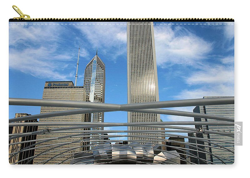 Chicago Carry-all Pouch featuring the photograph Chicago Steel by Kristin Elmquist
