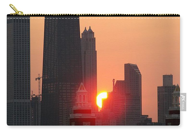 Photography Carry-all Pouch featuring the photograph Chicago Sunset by Glory Fraulein Wolfe
