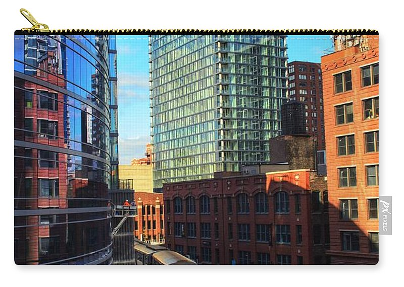 Chicago Carry-all Pouch featuring the photograph Chicago Train by Joseph Caban