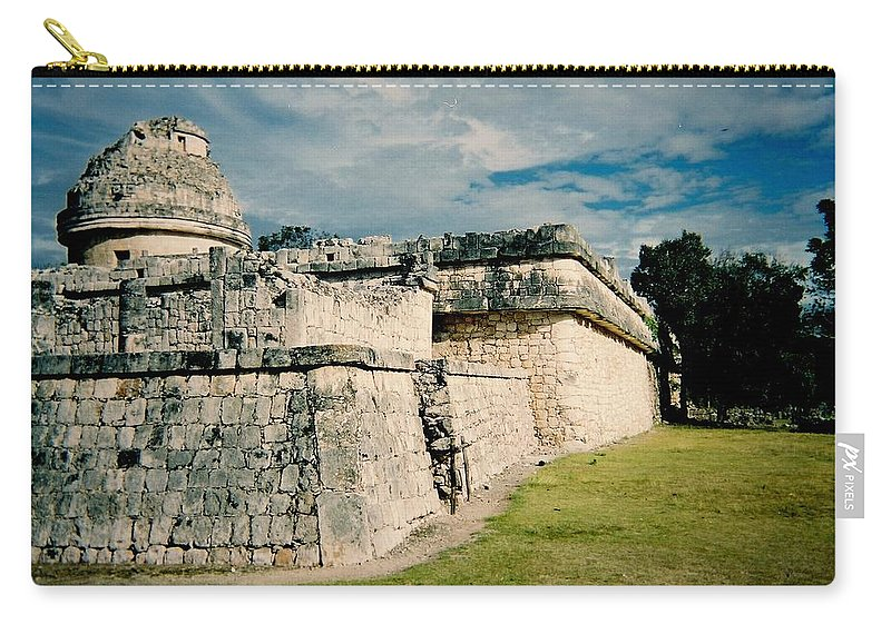 Chitchen Itza Carry-all Pouch featuring the photograph Chichen Itza 1 by Anita Burgermeister