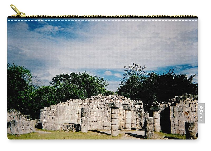 Chitchen Itza Carry-all Pouch featuring the photograph Chichen Itza 2 by Anita Burgermeister