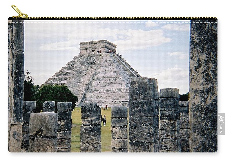 Chitchen Itza Carry-all Pouch featuring the photograph Chichen Itza 3 by Anita Burgermeister