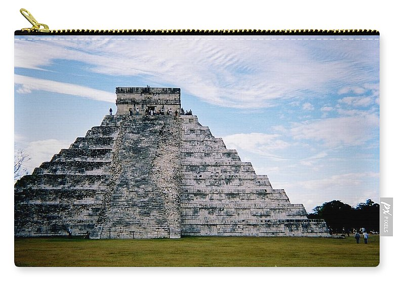 Chitchen Itza Carry-all Pouch featuring the photograph Chichen Itza 4 by Anita Burgermeister