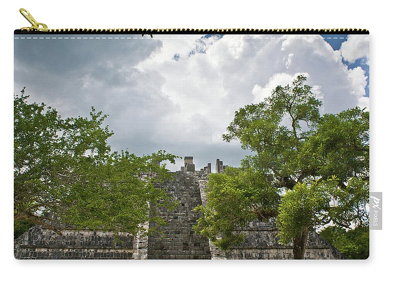 Chichen Itza Carry-all Pouch featuring the photograph Chichen Itza 4 by Douglas Barnett
