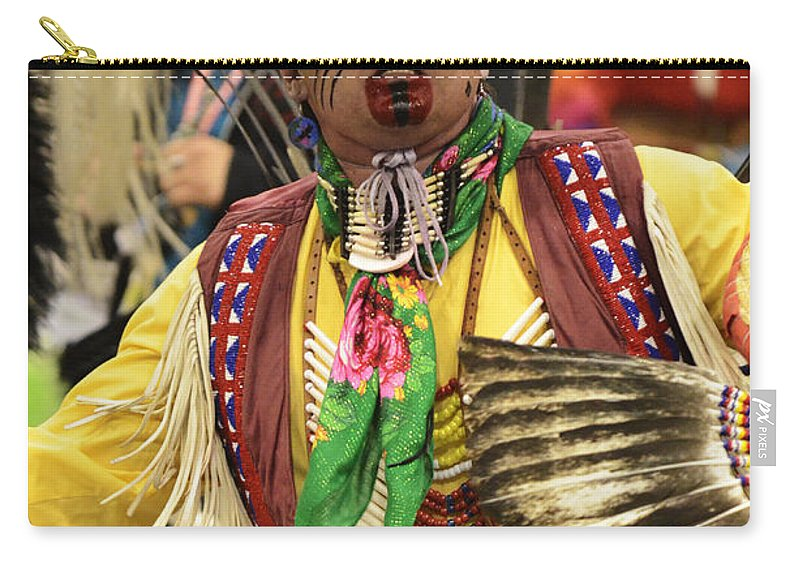 Pow Wow Carry-all Pouch featuring the photograph Pow Wow Chicken Dancer by Bob Christopher
