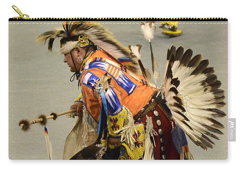 Pow Wow Carry-all Pouch featuring the photograph Pow Wow Chicken Dancers 3 by Bob Christopher