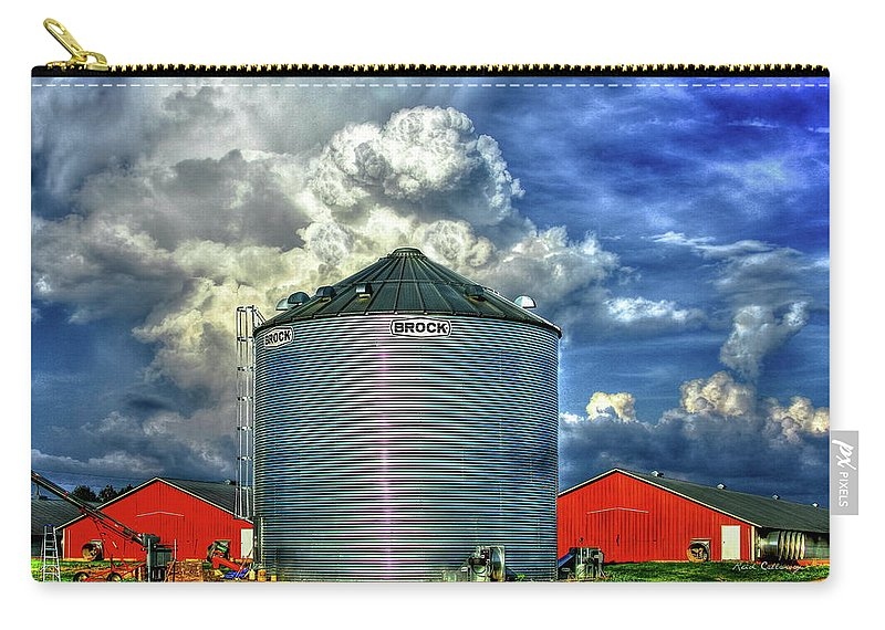 Reid Callaway Sky Carry-all Pouch featuring the photograph Chicken Feed Other Worldly Sky Art by Reid Callaway