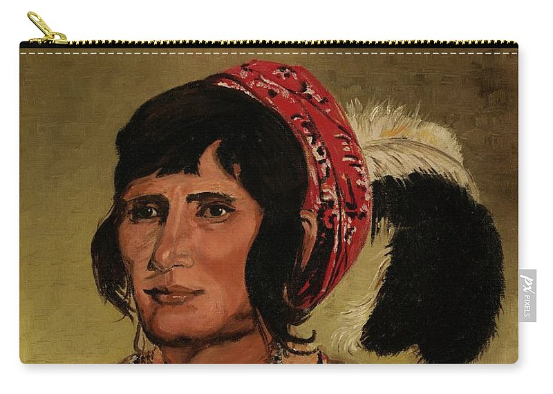 Chief Osceola Carry-all Pouch featuring the painting Chief Osceola by Billie Payne