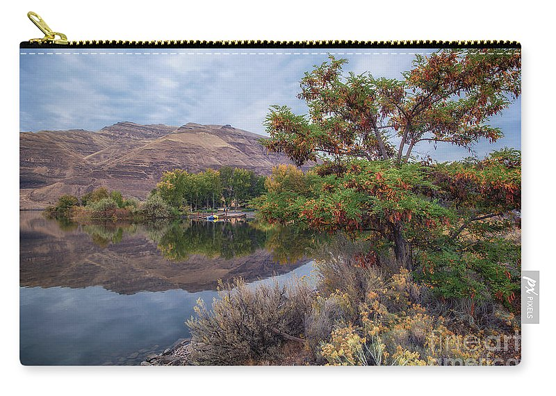 Carry-all Pouch featuring the photograph Chief Timothy Reflections by Marcia Darby