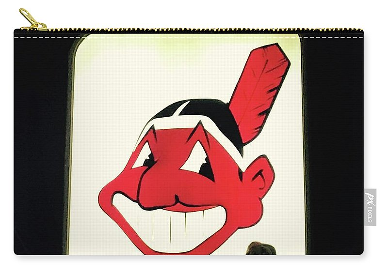 Chief Wahoo Carry-all Pouch featuring the photograph Chief Wahoo by Michael Krek