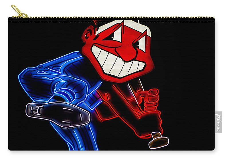 Cleveland Carry-all Pouch featuring the photograph Chief Wahoo by Stewart Helberg