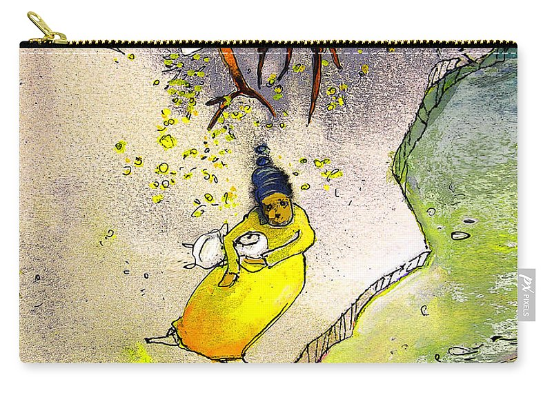 Child Carry-all Pouch featuring the painting Child Abandon by Miki De Goodaboom