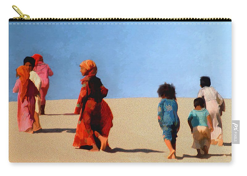 Children Carry-all Pouch featuring the photograph Children Of The Sinai by Kurt Van Wagner