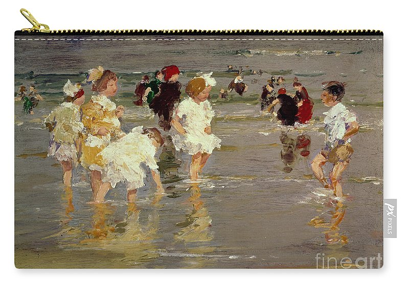 Water Carry-all Pouch featuring the painting Children On The Beach by Edward Henry Potthast