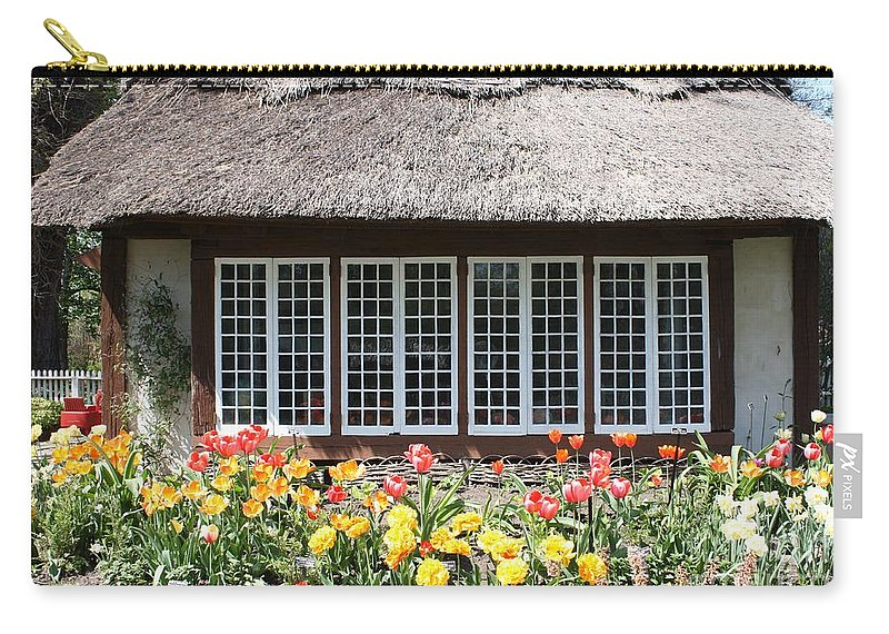 Childrens Cottage At Old Westbury Gardens Carry-all Pouch featuring the photograph Children's Cottage At Old Westbury Gardens by John Telfer