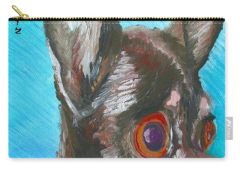 Dog Carry-all Pouch featuring the painting Chili Chihuahua by Minaz Jantz