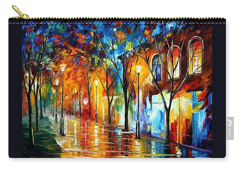Afremov Carry-all Pouch featuring the painting Chill Energy by Leonid Afremov
