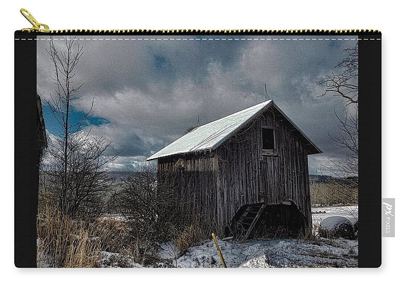 Farm Carry-all Pouch featuring the photograph Chill Factor by Jerry O'Rourke
