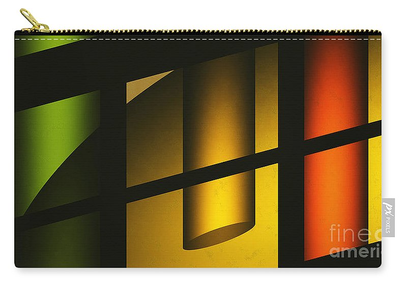 Abstract Carry-all Pouch featuring the digital art Chiming Lights by Richard Rizzo