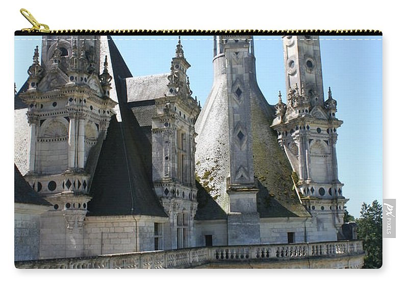 Chimney Carry-all Pouch featuring the photograph Chimney From Chambord - Loire by Christiane Schulze Art And Photography
