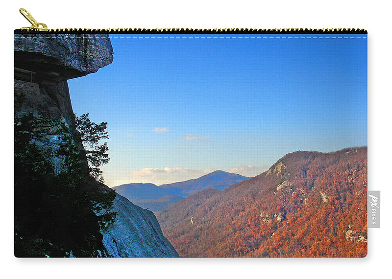 Landscape Carry-all Pouch featuring the photograph Chimney Rock 2 by Steve Karol
