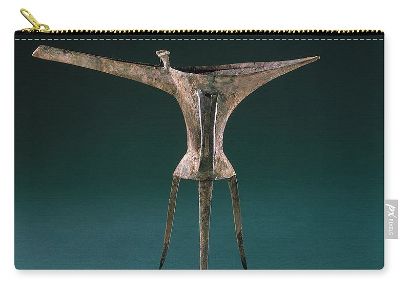 Ancient Carry-all Pouch featuring the photograph China: Bronze Pitcher by Granger