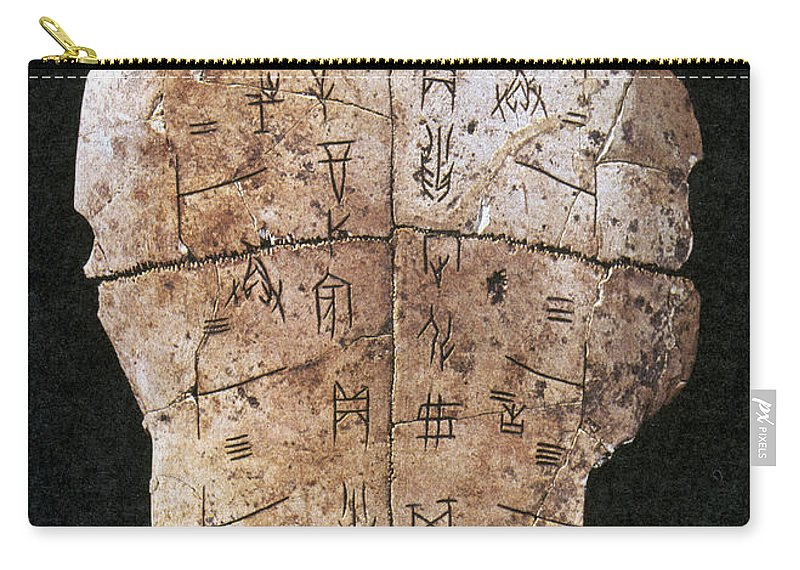 2nd Millennium B.c Carry-all Pouch featuring the photograph China: Oracle Shell by Granger