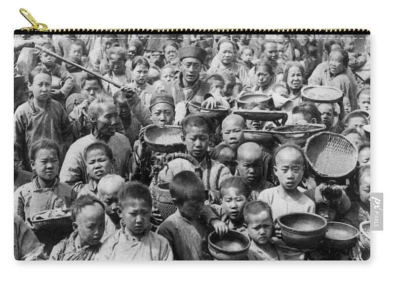 1902 Carry-all Pouch featuring the photograph China: Peking, C1902 by Granger