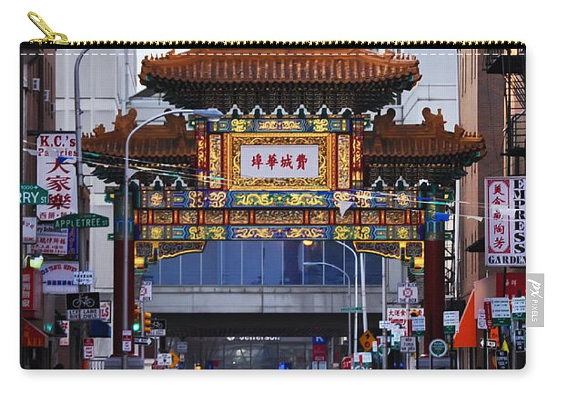 Chinatown Carry-all Pouch featuring the photograph Chinatown - Philadelphia by Bill Cannon