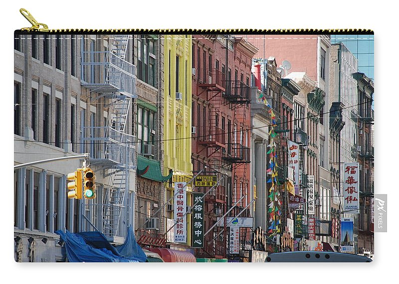 Architecture Carry-all Pouch featuring the photograph Chinatown Walk Ups by Rob Hans