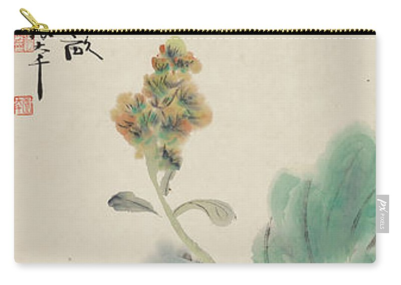 Chinese Cabbage Carry-all Pouch featuring the painting Chinese Cabbage by Zhang Daqian