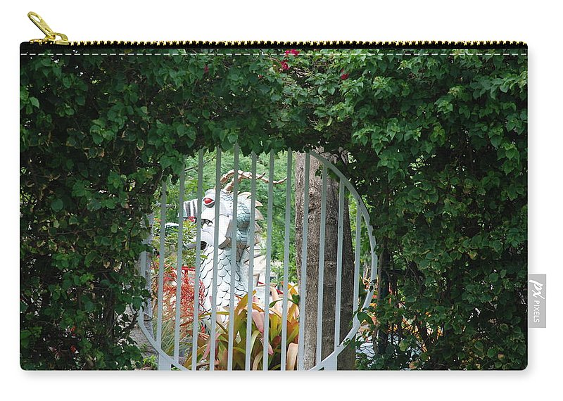 Chinese Dragon Carry-all Pouch featuring the photograph Chinese Dragon by Rob Hans