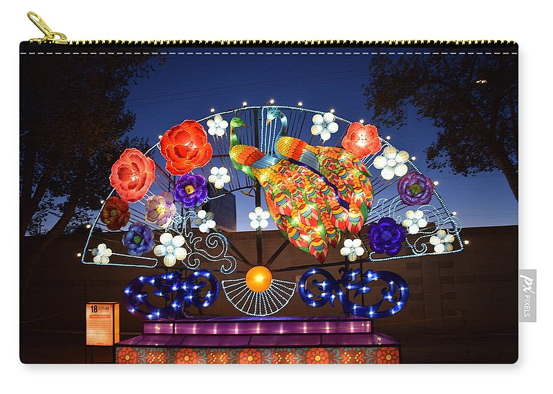 Lanterns Carry-all Pouch featuring the photograph Chinese Lantern Festival by Kirsten S