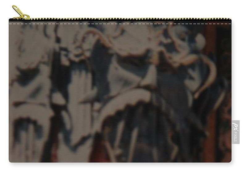 Grumanns Chinese Theater Carry-all Pouch featuring the photograph Chinese Masks by Rob Hans