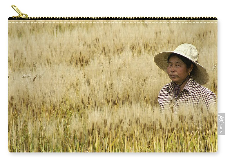 Asia Carry-all Pouch featuring the photograph Chinese Rice Farmer by Michele Burgess