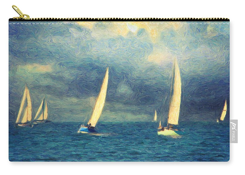 Oil Painting Carry-all Pouch featuring the painting Chios by Zapista
