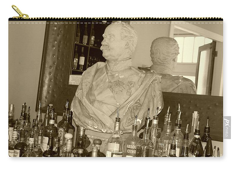 Bust Carry-all Pouch featuring the photograph Chipped Reflection by Debbi Granruth
