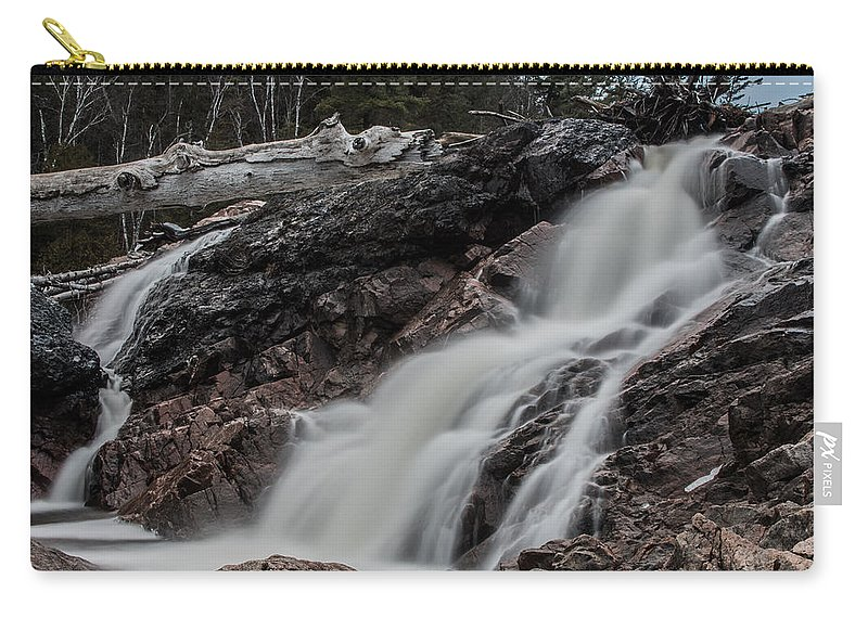 Chippewa River Carry-all Pouch featuring the photograph Chippewa Cascade by Tim Beebe