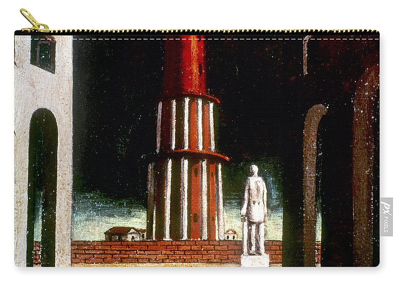 1914 Carry-all Pouch featuring the photograph Chirico: Grand Tour, 1914 by Granger