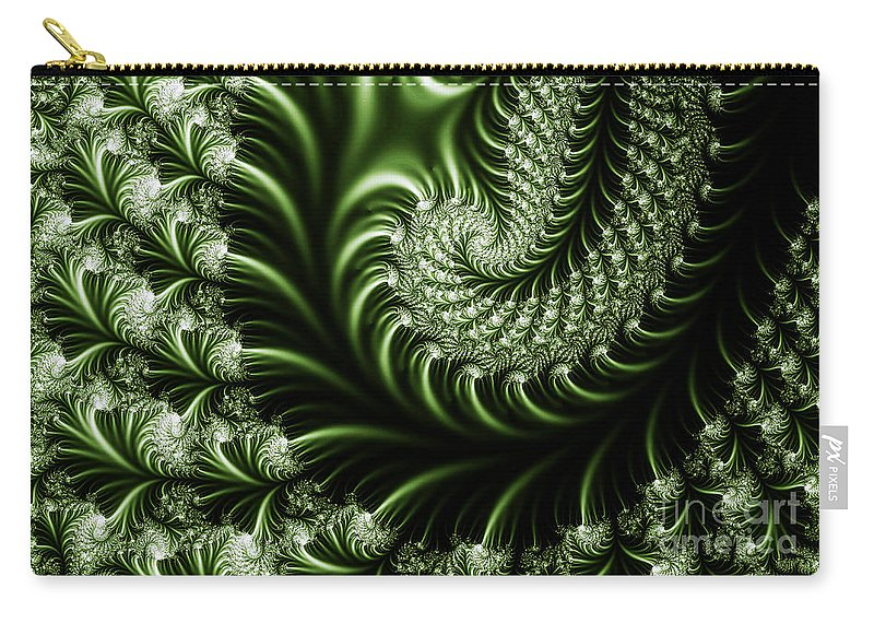 Clay Carry-all Pouch featuring the digital art Chlorophyll by Clayton Bruster