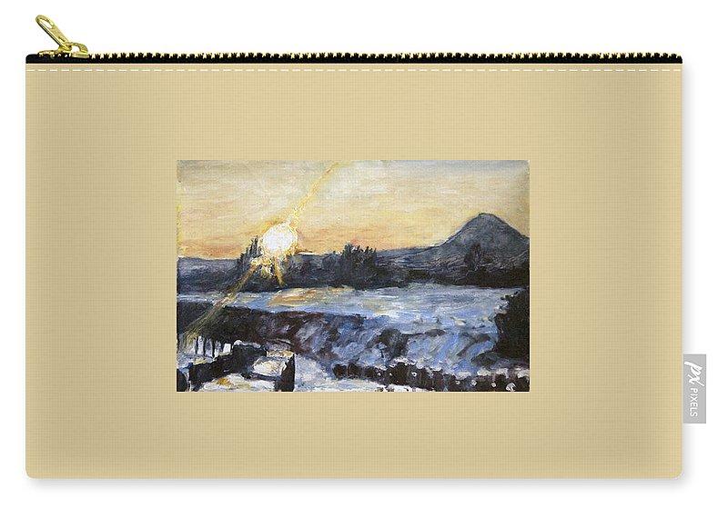 Landscape Carry-all Pouch featuring the painting Chmelak Ze Zubatky V Zime by Pablo de Choros