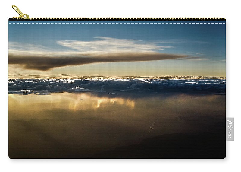 Clouds Carry-all Pouch featuring the photograph Chocolate Below by Christopher Holmes